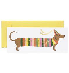 Hot Dog Single Folded Card & Matching Envelope