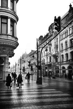 Piotrkowska street-Lodz-Poland