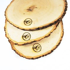 Rustic Wood Tree Slice Centerpieces Trivets by RoxyHeartVintage