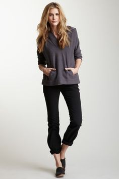 James Perse Stretch Canvas Five Pocket Jean. Love this casual comfy look.