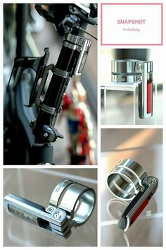 BIRDY WATER BOTTLE CAGE ADAPTOR AND SEAT POST LIGHT