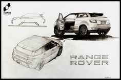 Range Rover made by Ewa Jeromin in DOMIN Radom drawing school / Range Rover wykonany w szkole rysunku DOMIN Radom https://www.facebook.com/DominRadom