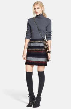Tory Burch Wool Blend Turtleneck & Wool Skirt  available at #Nordstrom