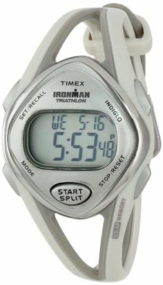 Amazon.com: Timex Women's T5K026 Ironman Sleek 50-Lap Light Gray Resin Strap Watch: Timex: Watches
