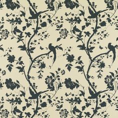 Oriental Garden Natural/Charcoal Floral Wallpaper. Laura Ashley, this is my bedroom wallpaper.. Love it