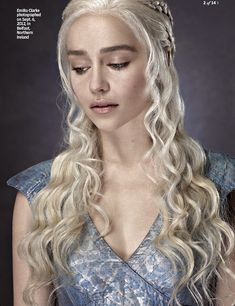 Daenerys Targaryen, I'm sorta obsessed with her hair and her eyebrows