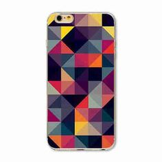 iPhone 7 7plus colorful grid TPU+PC 2 in 1 cover Graphic Fundas Capa