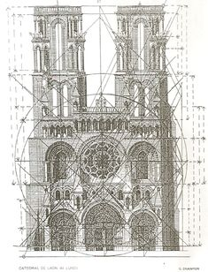Architektur Illustration of the Notre-Dame of Laon cathedral. Illustration of the Notre-Dame of Laon cathedral. The post Illustration of the Notre-Dame of Laon cathedral. appeared first on Architektur. Plans Architecture, Sacred Architecture, Church Architecture, Architecture Drawings, Classical Architecture, Architecture Details, Golden Ratio Architecture, Proportion Architecture, Architecture Classique