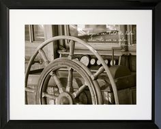 Anyone Can Hold The Helm Framed Photographic Print