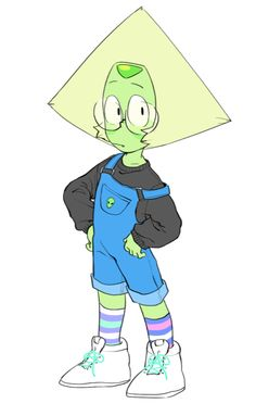 Peridot using clothes is the most cutest thing ever ♥ Lapidot, Cartoon Network, Steven Universe Personajes, Steven Universe Memes, Steven Universe Clothes, Steven Universe Peridot, Character Art, Character Design, Lapis And Peridot