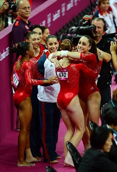 The Fab Five clinched a team all-around gold medal for the U.S. for the first time since 1996. #london2012