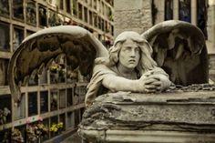 angel~Montjuic cemetery in Barcelona.