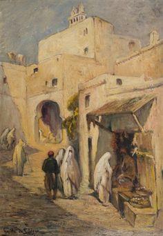 Vue du Maghreb animé by Leon Geille de Saint-Leger