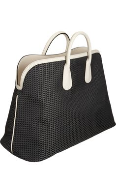 Valextra Logo-Stitched East/West Tote