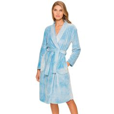 Looks cozy! Women's Cuddl Duds Pajamas: Frosty Fleece Chenille Wrap Robe