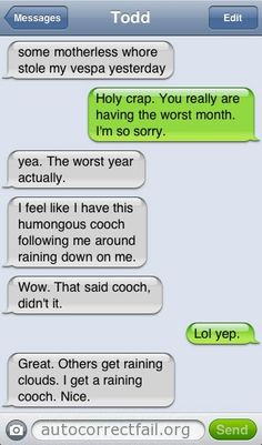 Autocorrect Fail | Hilarious Auto Correct blunders and funny texts from your mobile phone!