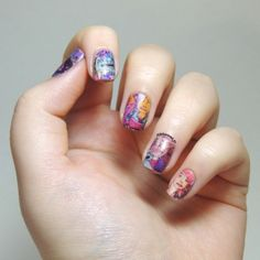 Nailstorming - Maroon 5 nails - Overexposed nails - Papier nails - Maroon 5 - Overexposed cover nails