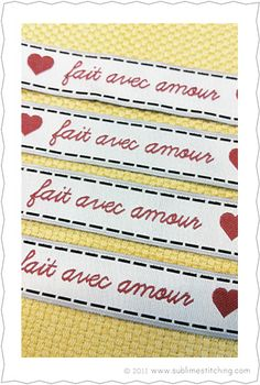 """more cute labels - they say """"made with love"""""""