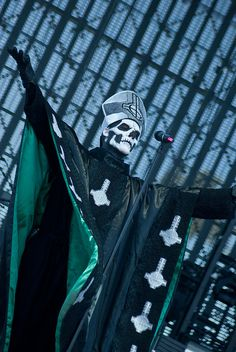 """Ghost Papa Emeritus II"" This man NEEDS to officiate my wedding! He is perfection!"