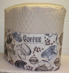 Tan Quilted Antique Cafe Coffee Theme Cover for K75 K79 & Platinum Keurig Coffee Maker