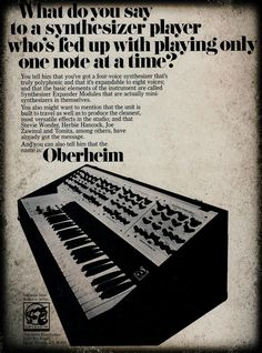 Oberheim Four Voice (1975) #1970s #vintage #synth #synthesizer #retro