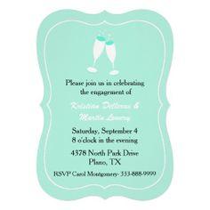 Stylish Mint Green Engagement Party Invitation
