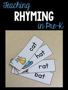 Ideas & activities to teach rhyming in pre-k/ preschool