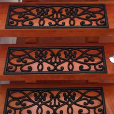 """""""New Amsterdam"""" Rubber Stair Treads Industrial Sheets, Commercial Stairs, Outside Steps, Stair Mats, Tile Steps, Black Stairs, New Amsterdam, Old Tires, Basement Stairs"""