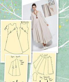 Dress Pattern Sewing Linen 59 Ideas For 2019 – Kleidungskombinationen Sewing Hacks, Sewing Tutorials, Sewing Projects, Dress Sewing Patterns, Clothing Patterns, Pattern Sewing, Linen Dress Pattern, Kaftan Pattern, Fashion Sewing