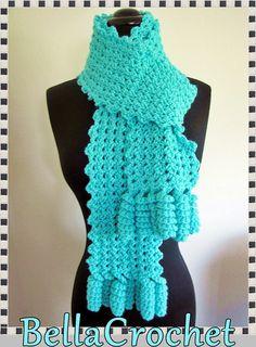 Curlicue Cutie Scarf By Elizabeth Ann White - Free Crochet Pattern - (ravelry)