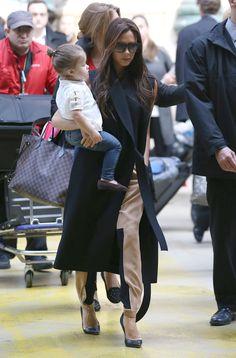 Victoria Beckham and Harper take on Paris for David's birthday!