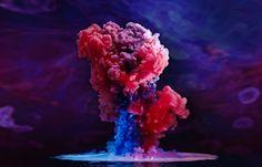 Juxtapoz Magazine - Photographs of Paint Underwater by Mark Mawson