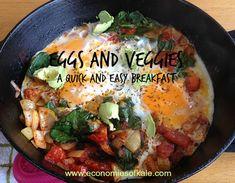 Eggs and veggies for breakfast