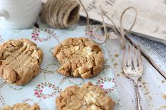 White Chocolate Coconut Peanut Butter Cookies - Sunday Public