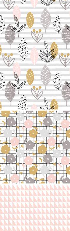 Leaf stripe by Wendy Kendall | Pattern Design