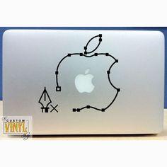 Newtons Law Of Gravity Vinyl Macbook Laptop Decal Sticker - Custom vinyl laptop decals