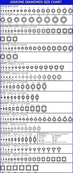 Carat Diamond Size Chart  Learn More About Diamond Carat Weight