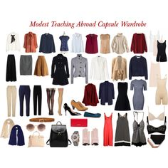 Modest Teaching Abroad Capsule Wardrobe by bagheera57 on Polyvore featuring moda, RED Valentino, Raey, H&M, Ally Fashion, Zimmermann, Vince, Michael Kors, Juvia and Eres