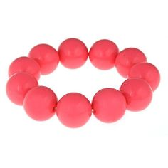 "Candy Bracelet - PinkThe Candy Bracelet is the perfect preppy piece to add to your jewelry collection!      1 & 3/4"" diameter     5/8"" wide     Elastic bracelet"