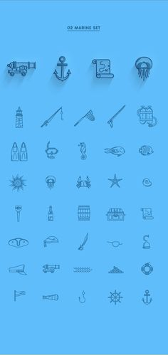 EIGHT LINE ICON SETS on Behance
