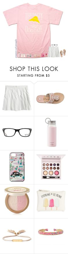 """✧ starting a taglist { rtd }"" by preppiness-and-pineapples ❤ liked on Polyvore featuring Hanes, Ray-Ban, Kate Spade, Laura Geller, Too Faced Cosmetics, New Look, Chloé, Stella & Dot and Fuji"