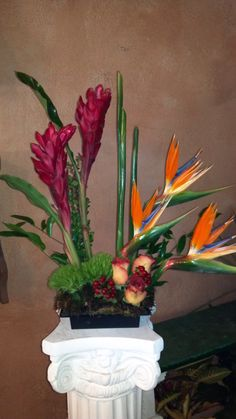 modern arrangement by the Little shop of Flowers in Stillwater, OK For Information call 405-372-1200