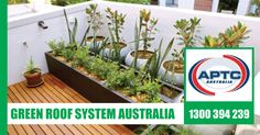 APTC are industry leaders in the supply and installation of Green Roof systems in Melbourne. Benefits of an APTC Green Roof go beyond just the green space. Green Roof System, Roofing Systems, Rooftop Garden, Melbourne, Australia, Plants, Planters, Plant, Planting