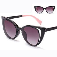 50cfe00a391c6 Marca de luxo Designer Cat Eye Sunglasses mulheres Vintage Cateye gradiente  de óculos de sol femininos
