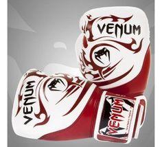 Venum-Tribal-Boxing-Gloves-RedWhite-16-Ounce #muaythai #combatsports #mma #boxing