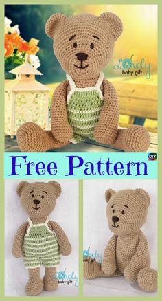 6 cute Crochet Amigurumi Animal Free Patterns #freecrochetpatterns #crochetanimal #babygift #amigurumi #toys