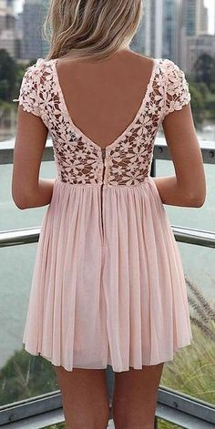 Pink Crochet Pleated Dress