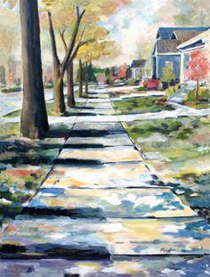 Musical Avenue Painting at ArtistRising.com