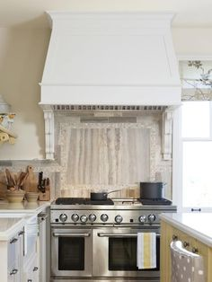 Sarah Richardson's Kitchen Design Recipes : Rooms : Home & Garden Television, Commercial Range And Vent Hood