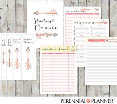 College Student Printable Planner - Adorable Southwest Arrow-Themed #perennialplanner